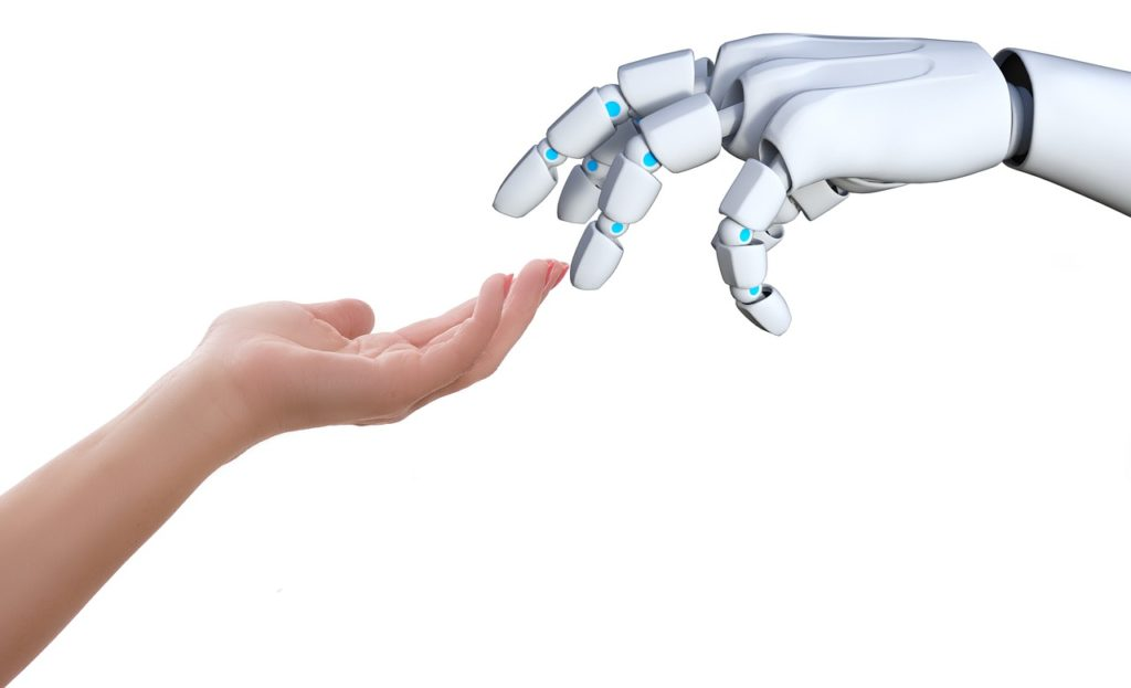 robot y humano educación